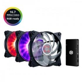 COOLERMAST 3x12cm 120 Air Balance RGB LED Kasa Fanı MFY-B2DC-133PC-R1