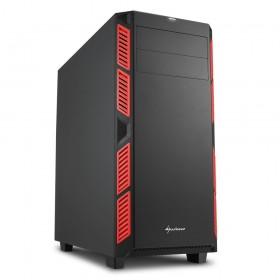 SHARKOON Belirgin Şekiller, Etkileyici Renkler Midi Tower Kasa AI7000SILENT-RED