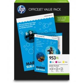 HP 1CC21AE CMY Mürekkep Kartuş (953XL) + Office Value Pack A4 75 sayfa