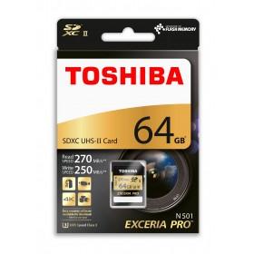 TOSHIBA 64GB SDXC UHS-II U3 270/250 (EXCERIA PRO) THN-N501G0640E6