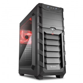 SHARKOON SKILLER SGC1 WINDOW RED ATX KASA