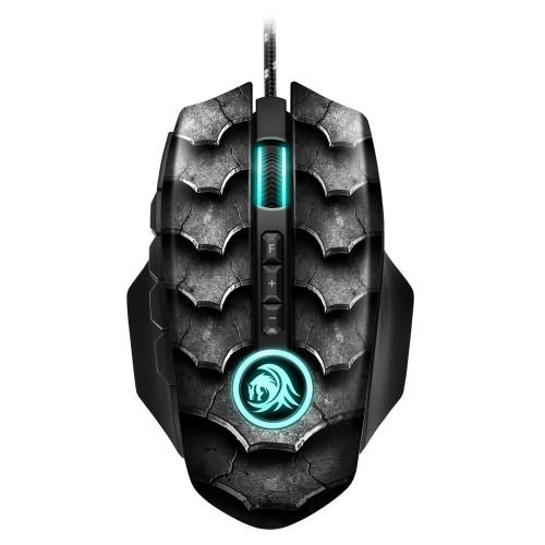 SHARKOON Yüksek hassasiyet,Eşsiz tasarım Optik Mouse DRAKONIA-II-BLACK