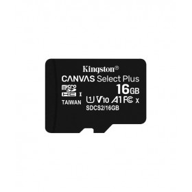 Kingston 16GB microSDHC Canvas Select Plus 100R A1 C10 Card + Adapter
