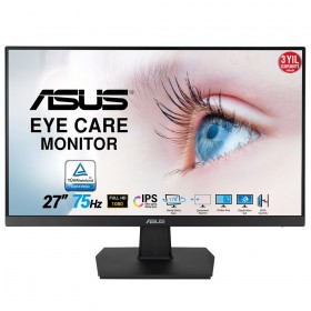 27 ASUS VA27EHE FHD IPS 5MS 75HZ HDMI DVI VGA VESA